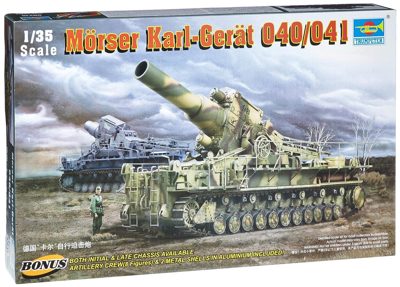 トランペッター 1/35 ドイツ軍 カール重自走砲 040/041 00215 プラモデル B000NBDW60