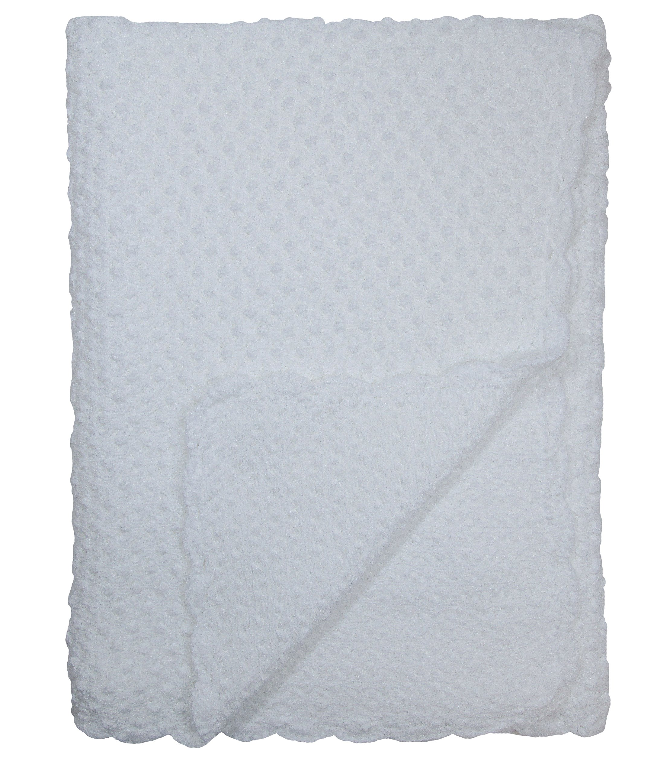 Baby Fancy Christening White Hand Crochet 100% Cotton Shawl/Blanket 34 x 30 in - Bubble by Christening Day