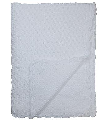 Amazon Baby Fancy Christening White Hand Crochet Cotton Shawl