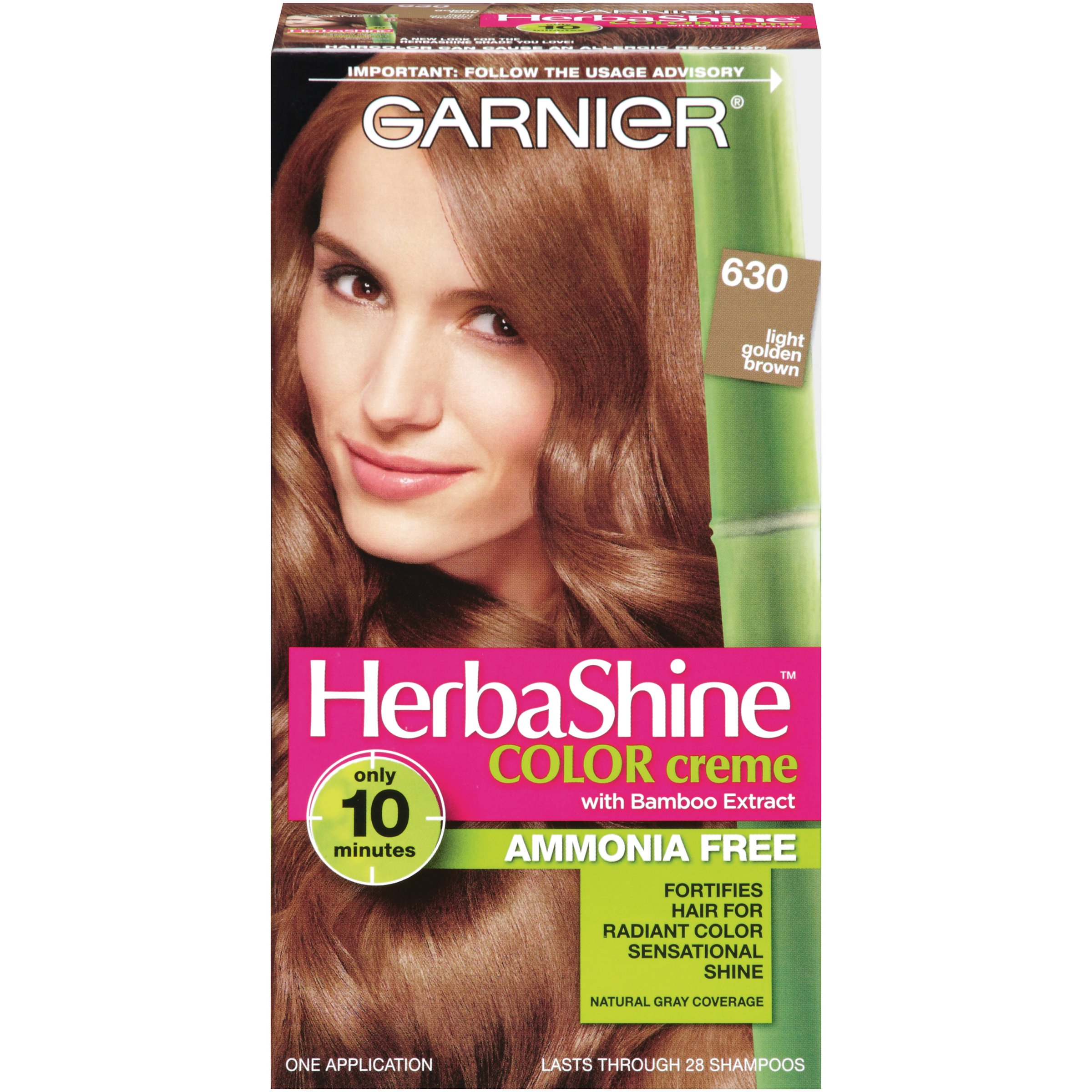 Amazon.com : Garnier Herbashine Haircolor, 632 Light Warm Brown : Chemical Hair Dyes : Beauty