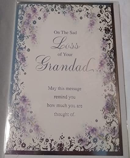 7.5 x 5.25 Inches On The Loss of Your Dad Design Studio Sympathy Card