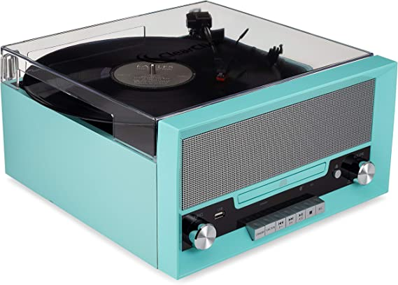 ClearClick All-in-One Turntable with CD Player