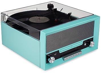 ClearClick Tocadiscos Todo en uno con Reproductor de CD, Radio FM ...