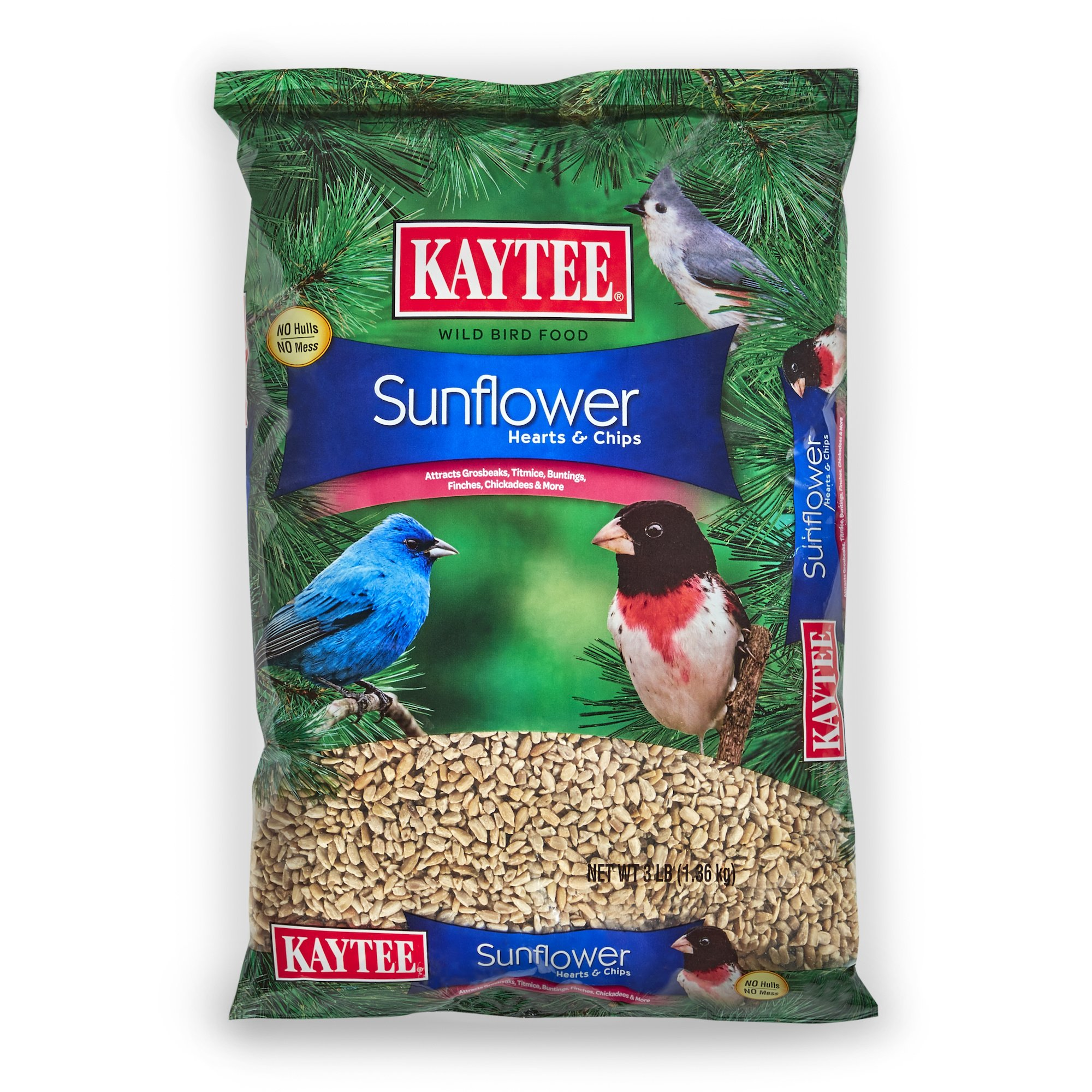 Kaytee Sunflower Hearts and Chips Seed, 3-Pound by Kaytee