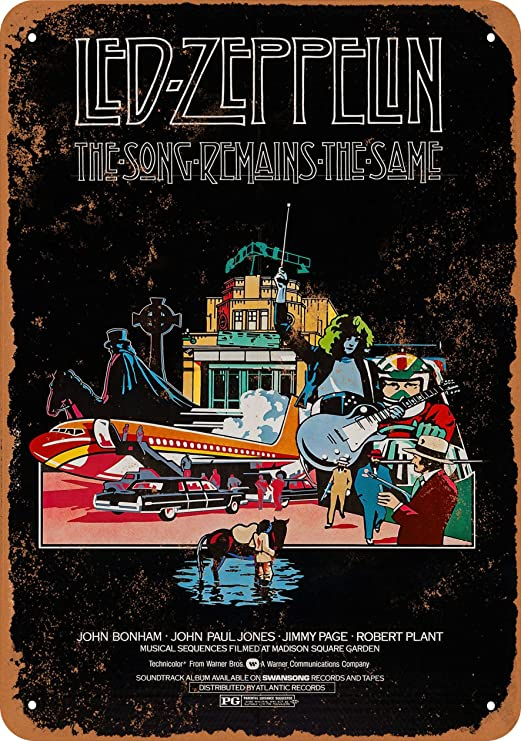 1973 Led Zeppelin in Mobile Vintage Look Reproduction Metal Sign 8 x 12