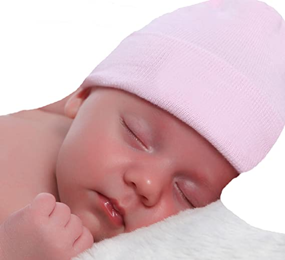 Image Unavailable. Image not available for. Color  Melondipity Solid Pink  Newborn Hospital Hat - 2 Ply 100% ... dbba3debbbd0