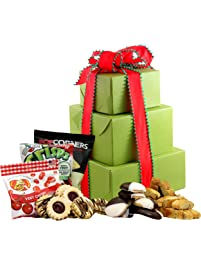 Amazon snack gifts grocery gourmet food large gluten free palace holiday delight gluten free gift tower gourmet gift baskets negle Images