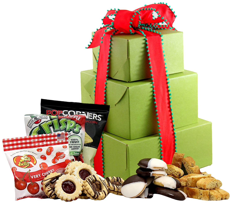 CDM product GlutenFreePalace.com Large-Palace Holiday-Delight-Gift Tower, Gourmet Holiday Gift Baskets, 2-Pound big image