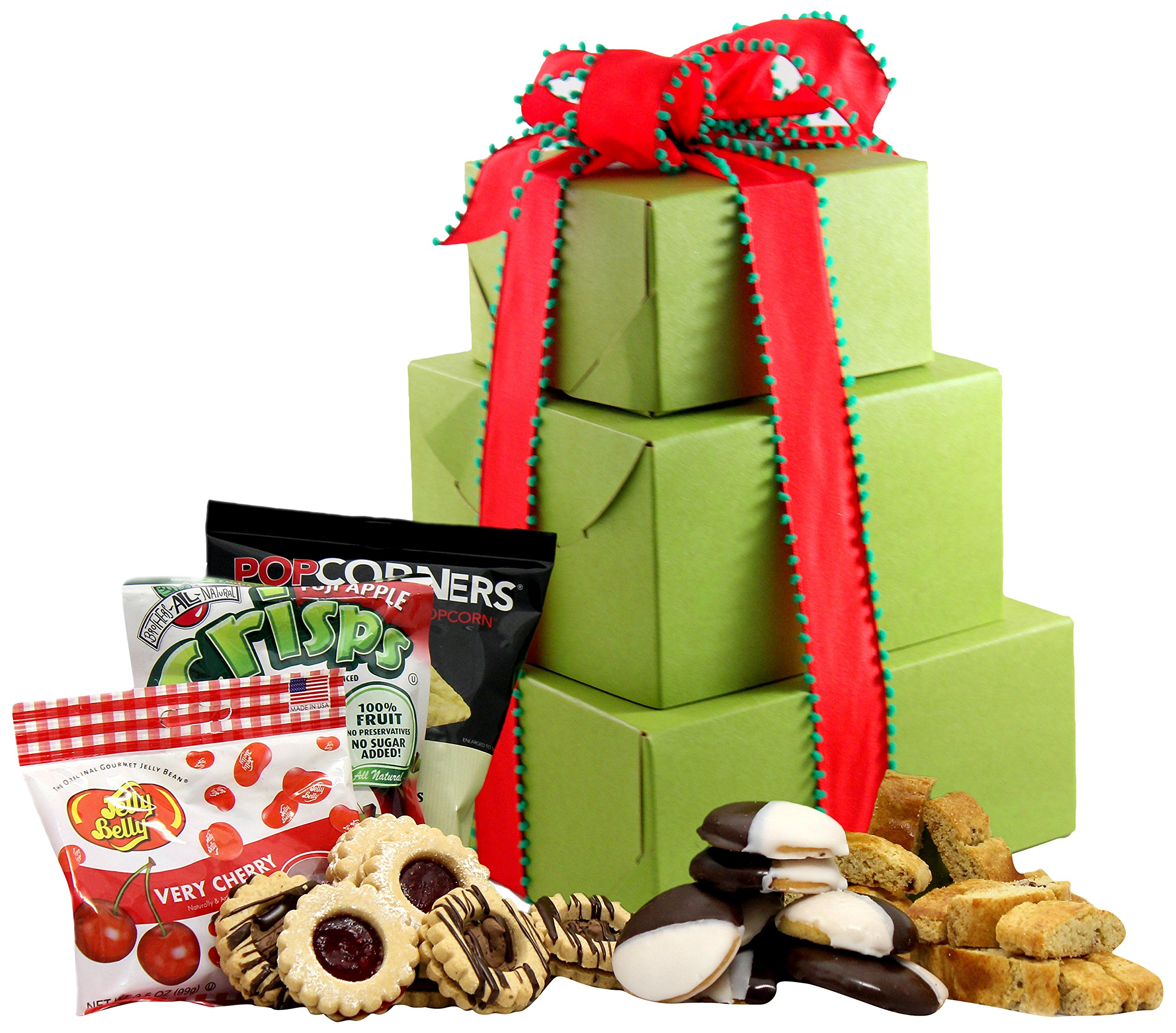 Amazon gluten free gift basket gourmet snacks and hors large gluten free palace holiday delight gluten free gift tower gourmet gift baskets negle