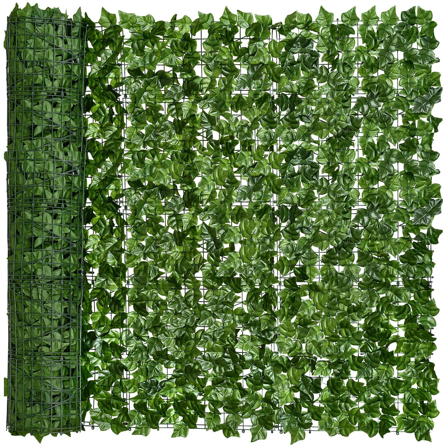 DearHouse Artificial Faux Ivy Hedge Privacy Fence Wall Screen, Leaf and Vine Decoration for Outdoor Garden Decor, (157.559inch)