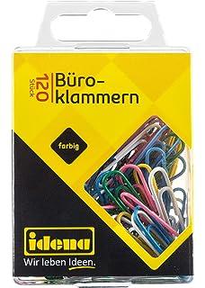 bunt sortiert 4 Gr/ö/ßen B/üroklammern Set 155 St/ück