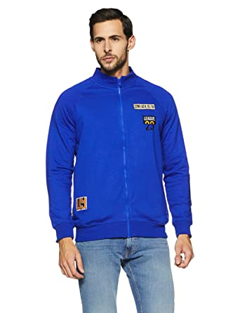Amazon Brand -Symbol Men's Embroidered Fleece Jacket (AW17-ST-ZP-39_M_Fox