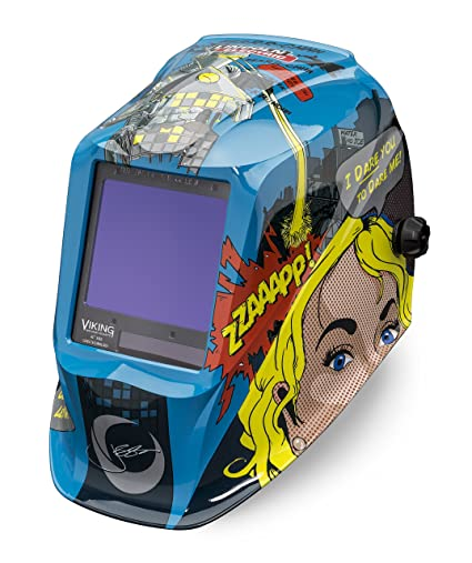 5c7629da6 Lincoln Electric VIKING 3350 Jessi vs the Robot Welding Helmet with 4C Lens  Technology - K3372-3 - - Amazon.com
