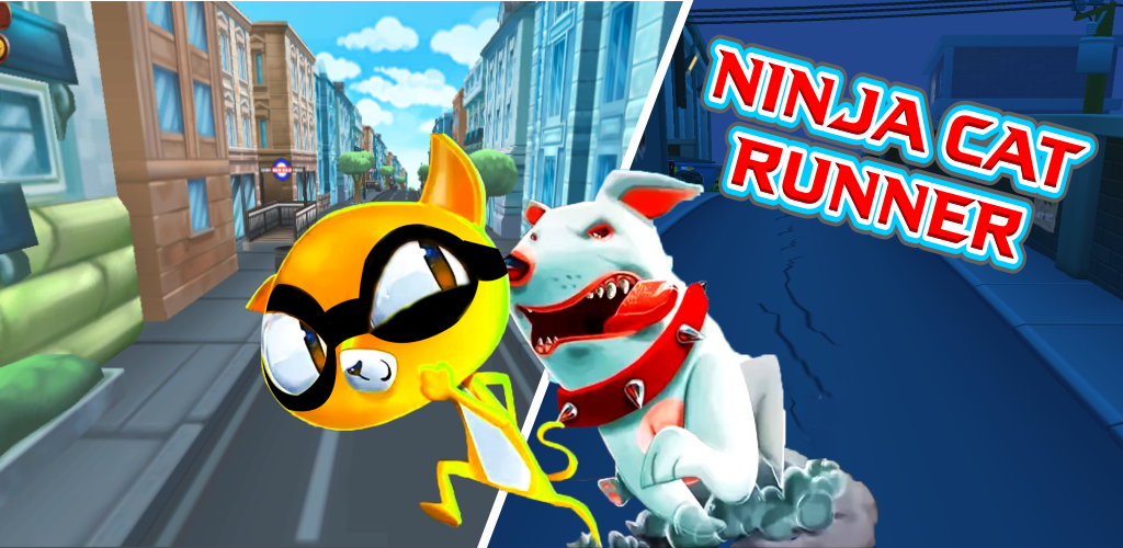 Ninja Cat Game - Cute Pet Subway Surf Cat Rush Online ...