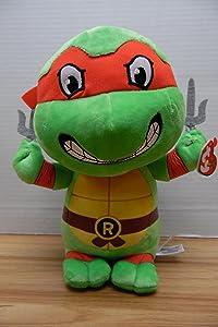 """Ty Raphael Teenage Mutant Ninja Turtles 10"""" Medium Sized Plush"""