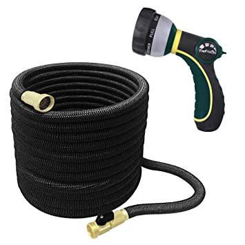 Expanding Expandable Compact Garden Hose Pipe Nozzle Gun 50//75//100//150ft UK