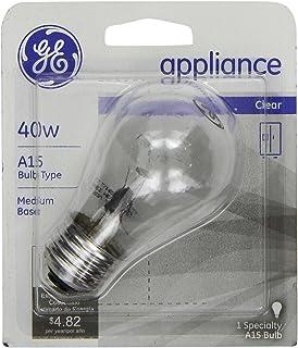 GE 15206 40-Watt Appliance Bulb Medium Base A15 Bulb Shape & Ge Appliance Light Bulb Inside Frost 40 W 355 Lumens A15 Med Base ... azcodes.com