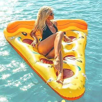 Beach Toy ® - Colchoneta Hinchable para Piscina Pizza.Stock en Francia. Tamaño XXL: 180 x 130 cm.: Amazon.es: Juguetes y juegos