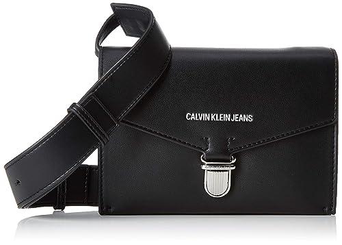 Calvin Klein Jeans - Sculpted Envelope Sling, Carteras de mano Mujer, Negro (BLACK