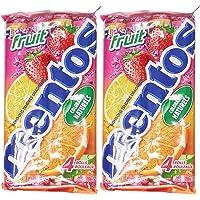 Pack de 4 rouleaux Mentos Fruits- Lot de 2