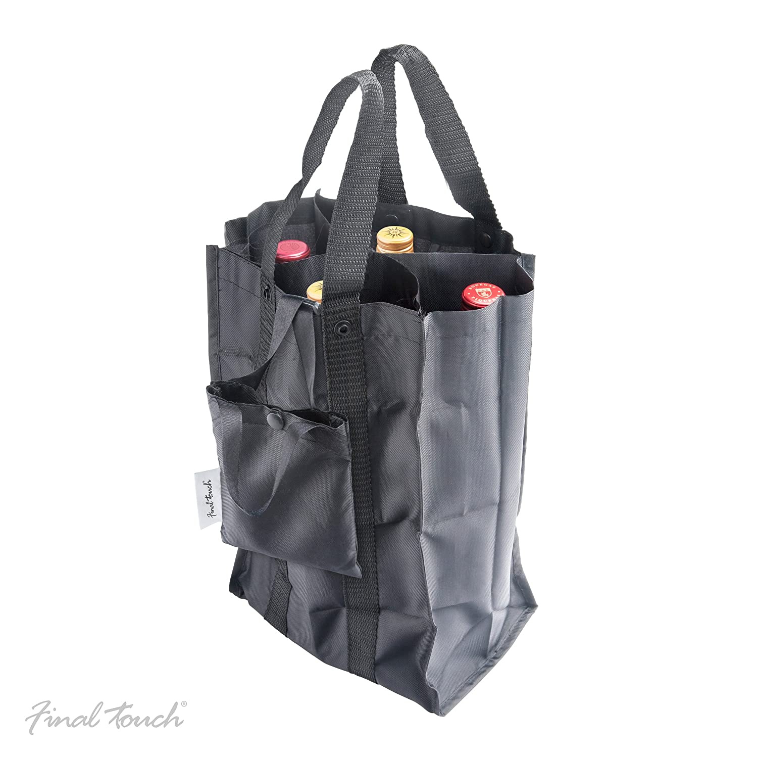 Final Touch Folding 4-Bottle Wine Bag Product Specialties Inc.