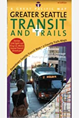 Seattle Transit + Trails Map, 1st Edition Map