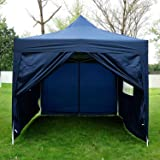 Outsunny 3m x 4.5m Pop Up Gazebo Party Tent Canopy Marquee Water Resistant +Free Storage Bag (Blue)