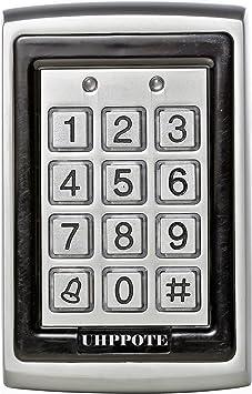 UHPPOTE 125Khz EM-ID Metal Caja RFID Teclado De Control Acceso Con Contraluz Soporta 500 Usuarios: Amazon.es: Bricolaje y herramientas