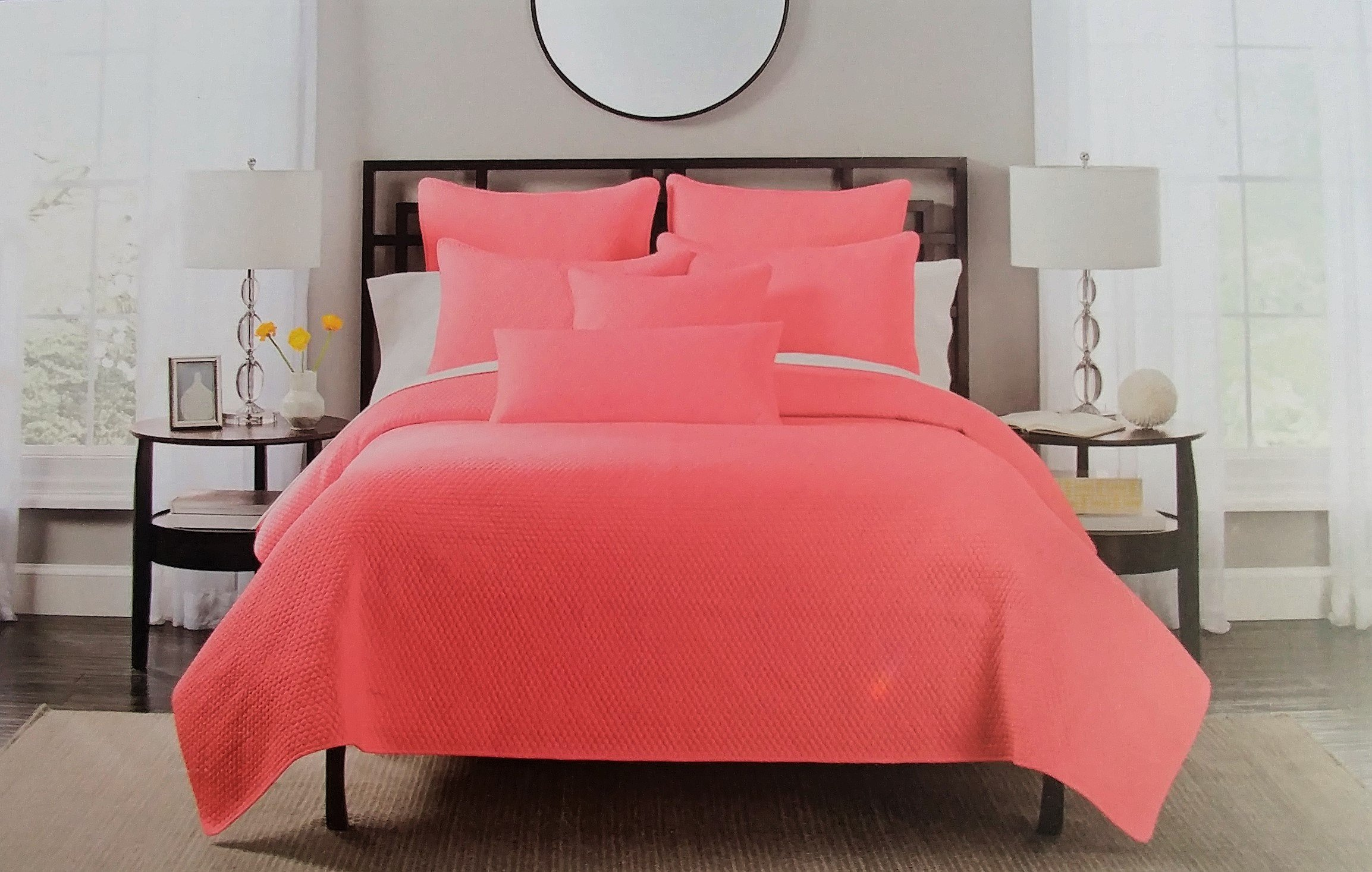 Hotel Balfour 2 Piece Coral Quilt Set TWIN
