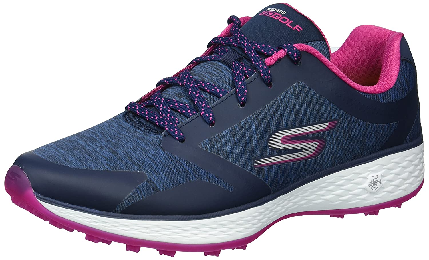 Skechers Women's Go Golf Birdie Golf Shoe B074VJVKLC 9.5 B(M) US|Navy/Pink Heathered