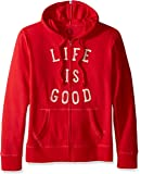 Life is good Go To Zip Hoodie, Simply Red