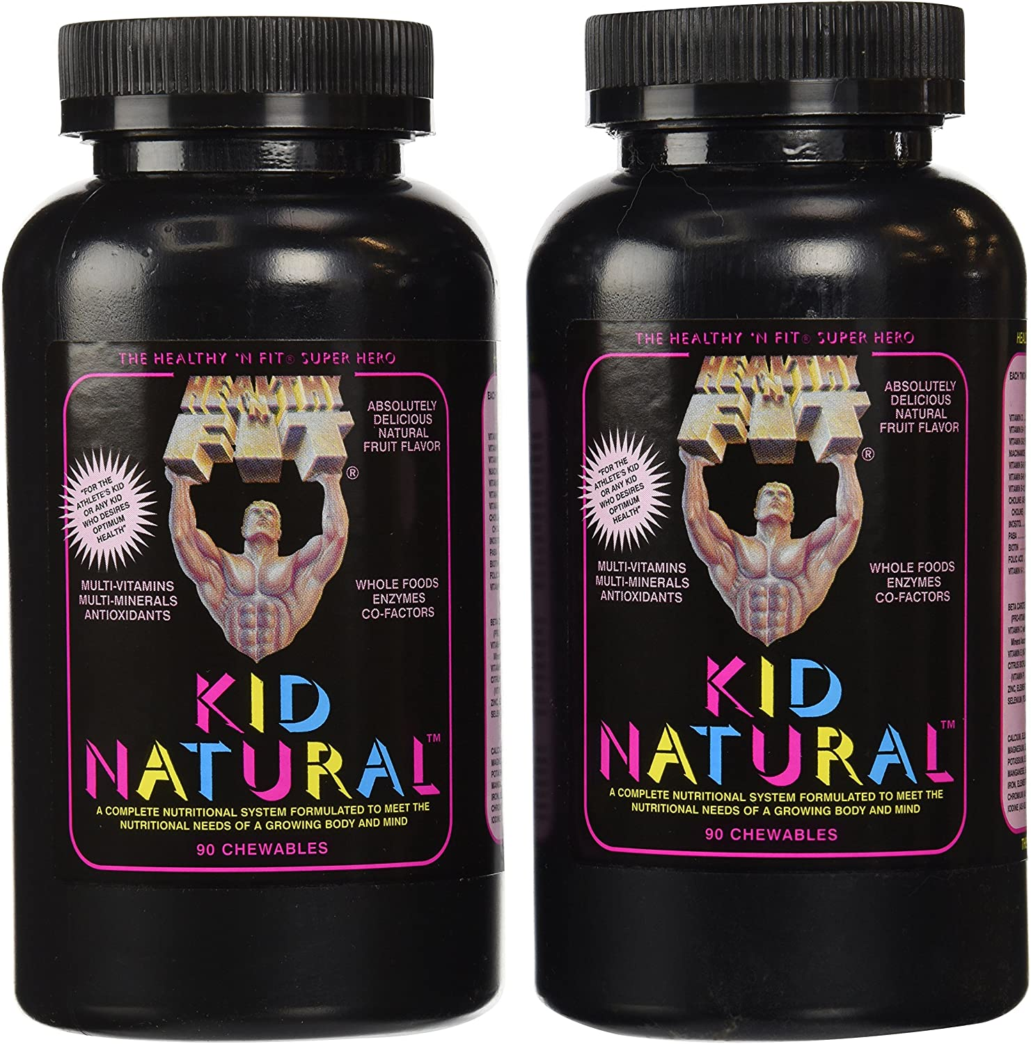 Healthy n Fit Kid Naturals 90t, Bottle Pack of 2
