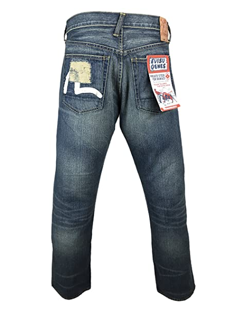 a45dd594bc54 Evisu Osaka Repair Shop ZZ87T8 Top Notch Wash Jeans 31  Amazon.co.uk   Clothing