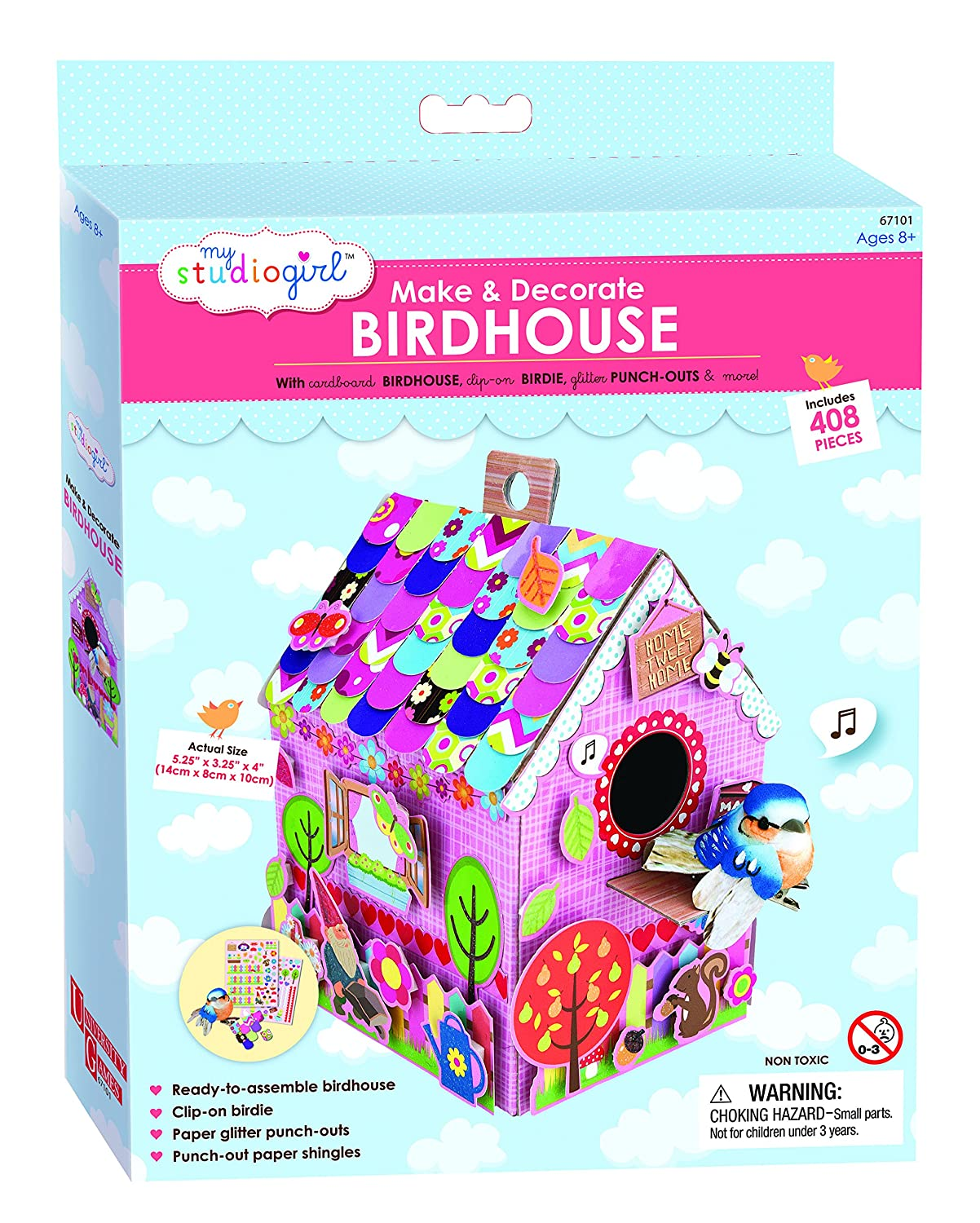 My Studio Girl Make and Decorate ''Home Tweet Home'' Birdhouse Kit