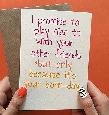 Tarjeta de cumpleaños para mejor amigo, divertida tarjeta de ...