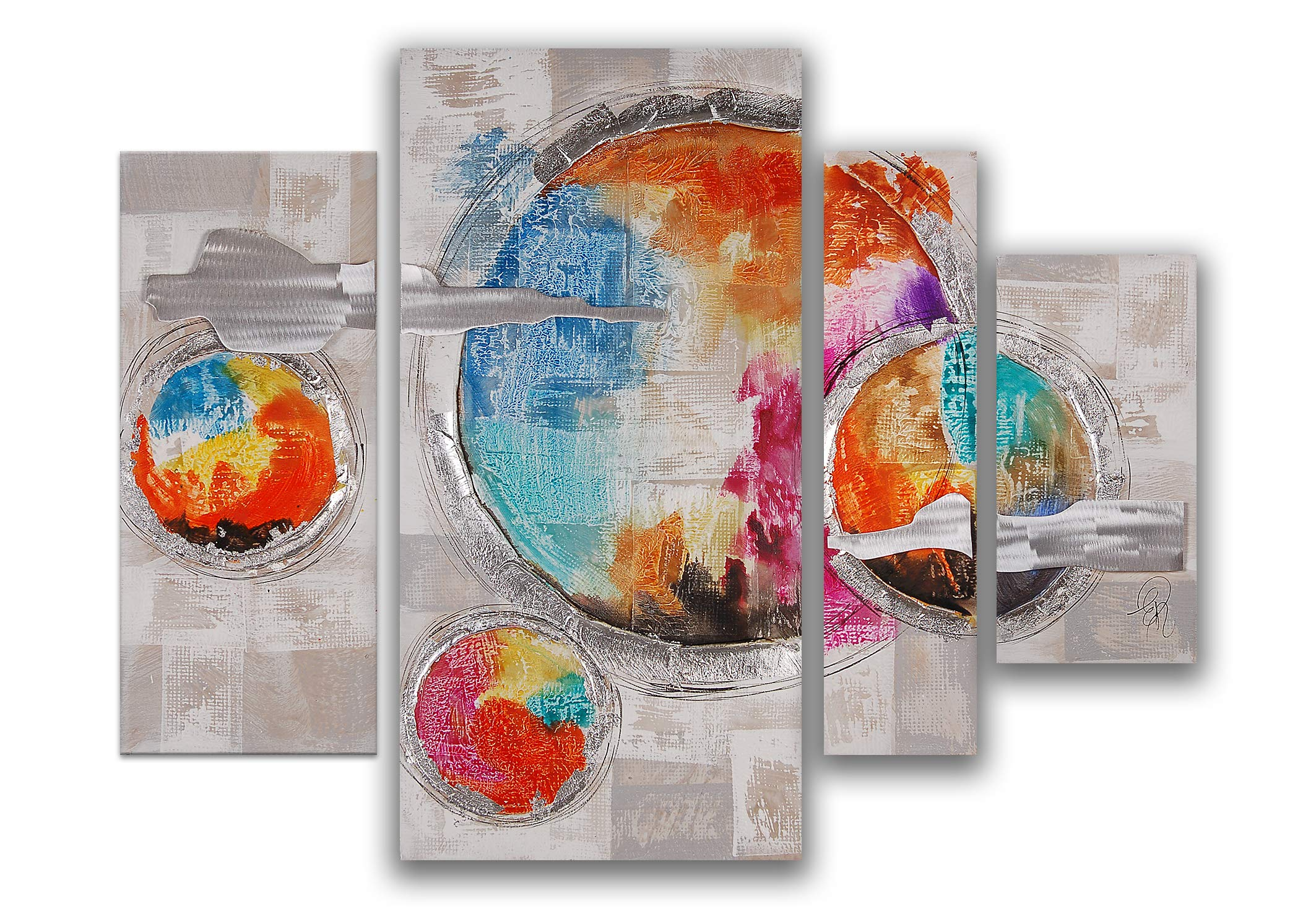 World Art TW60087 Aesthetic Wooden Frame Planets 80x109x3.5 cm Size: 32 x 43 x 2 Inch