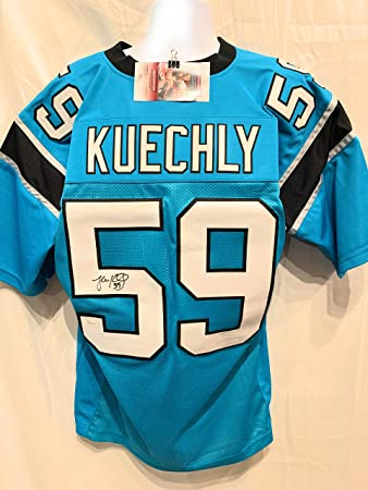 reputable site 515c7 1fb13 Luke Kuechly Autographed Carolina Panthers Custom Black ...