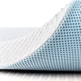 subrtex 4 Inch Gel-Infused Memory Foam Bed Mattress Topper High Density Cooling Pad Removable Fitted Bamboo Cover Ventilated