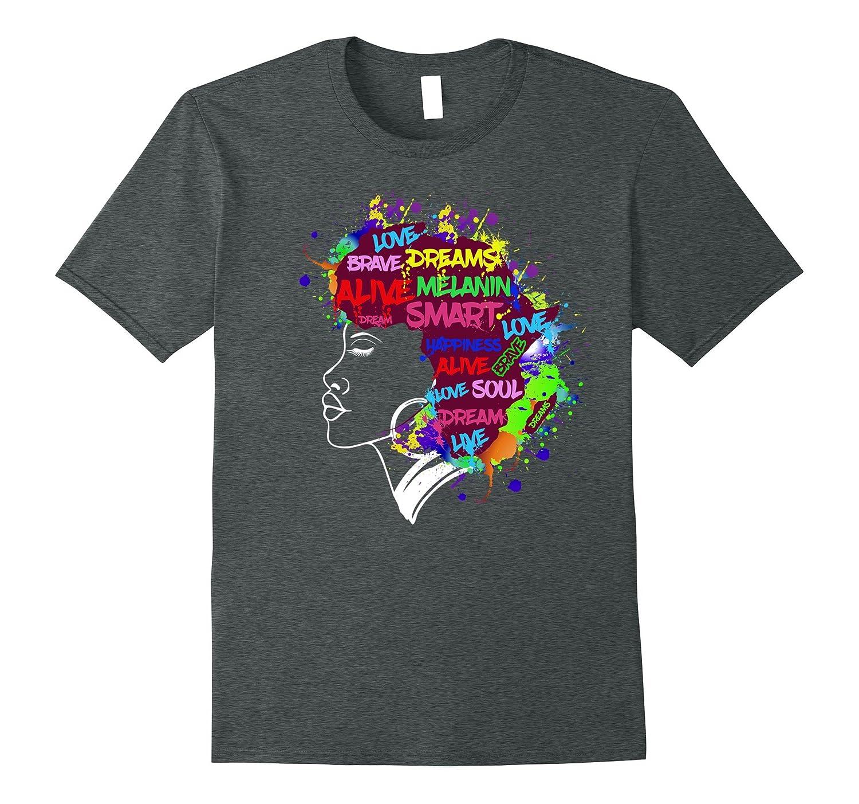 Melanin Queen Shirt - Natural Hair Motivation Shirt Gift-FL
