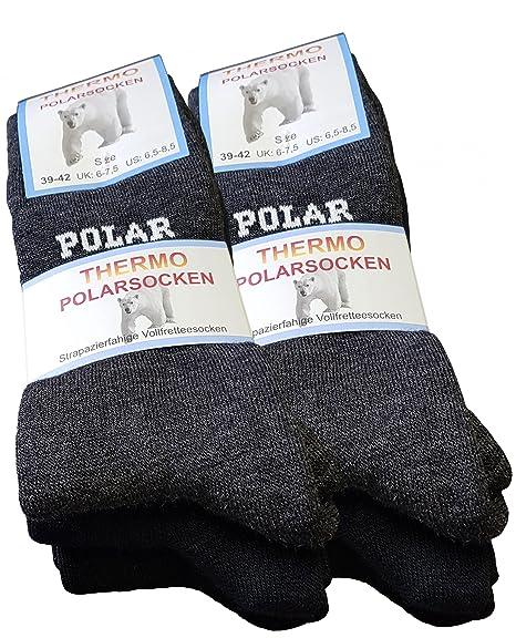6 pares de calcetines polares, totalmente de rizo, gruesos y cálidos: Amazon.es: Ropa y accesorios