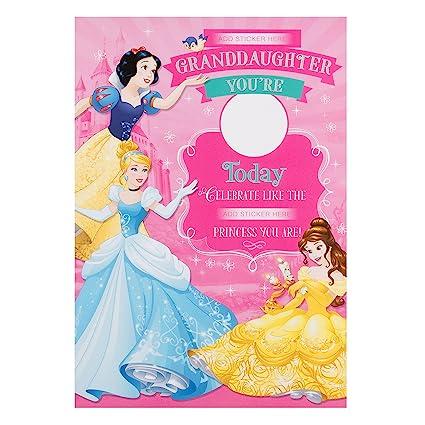 Hallmark - Tarjeta de princesas Disney nieta Tarjeta de ...