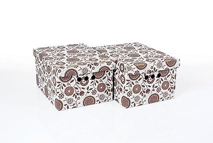 Global-Pak - Cajas de almacenamiento decorativas para casa u oficina (2 unidades)
