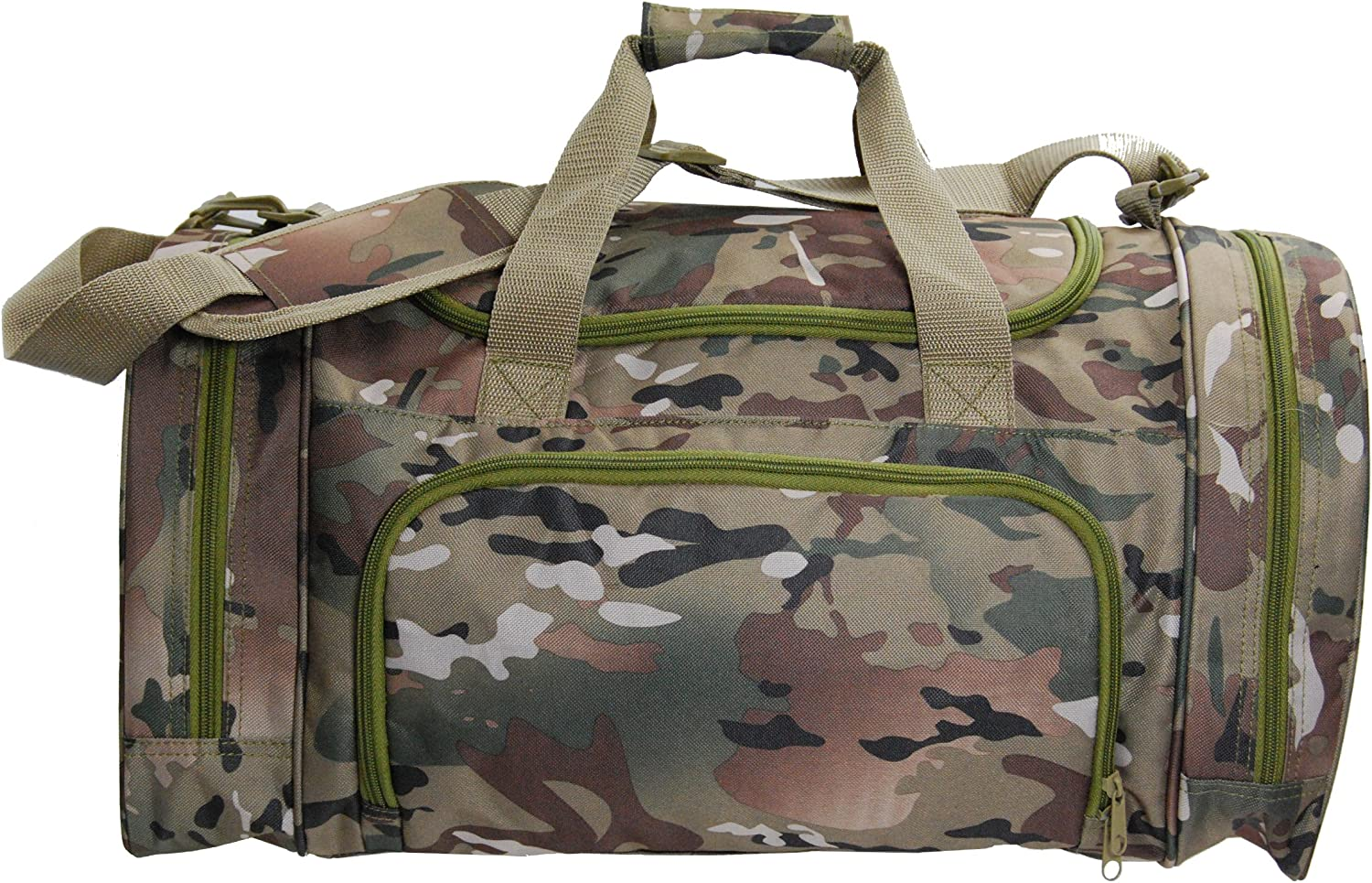 Elite Team Digital Camo Duffel Travel Overnight Gym Bag Pocket for Shoes Wet Items Large