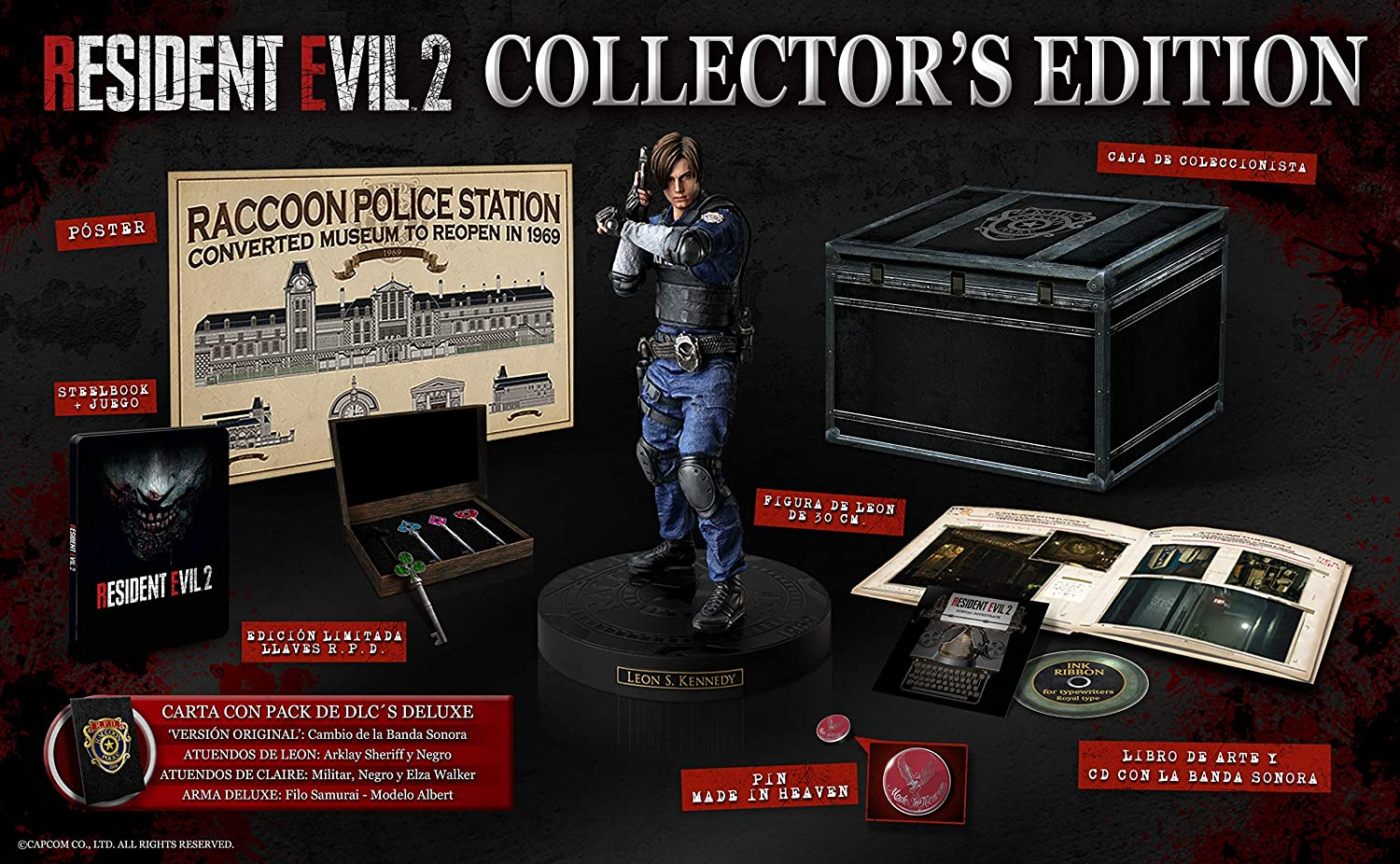 Resident Evil 2 Collector´s Edition PlayStation 4: Amazon.es ...