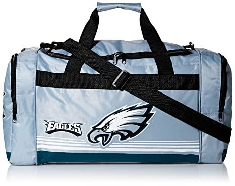 Image Unavailable. Image not available for. Color  Philadelphia Eagles  Medium Striped Core Duffle Bag d012624407bc7