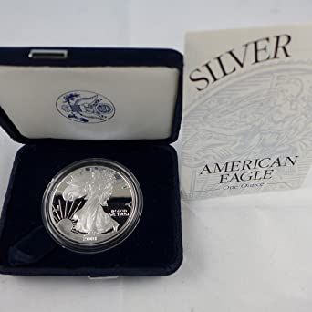 Proof Coin with Box and Paper with Specs 2001-W American Silver Eagle 1oz