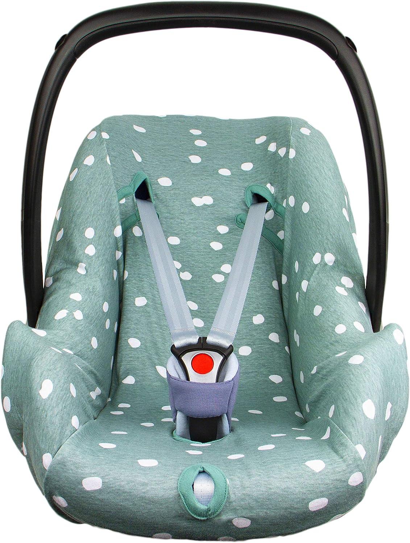 Citi BriljantBaby ** BabyFit Spots 100/% algod/ón Interlock Jersey ** Funda para Maxi-cosi Cabriofix Streety Fix etc. Pebble