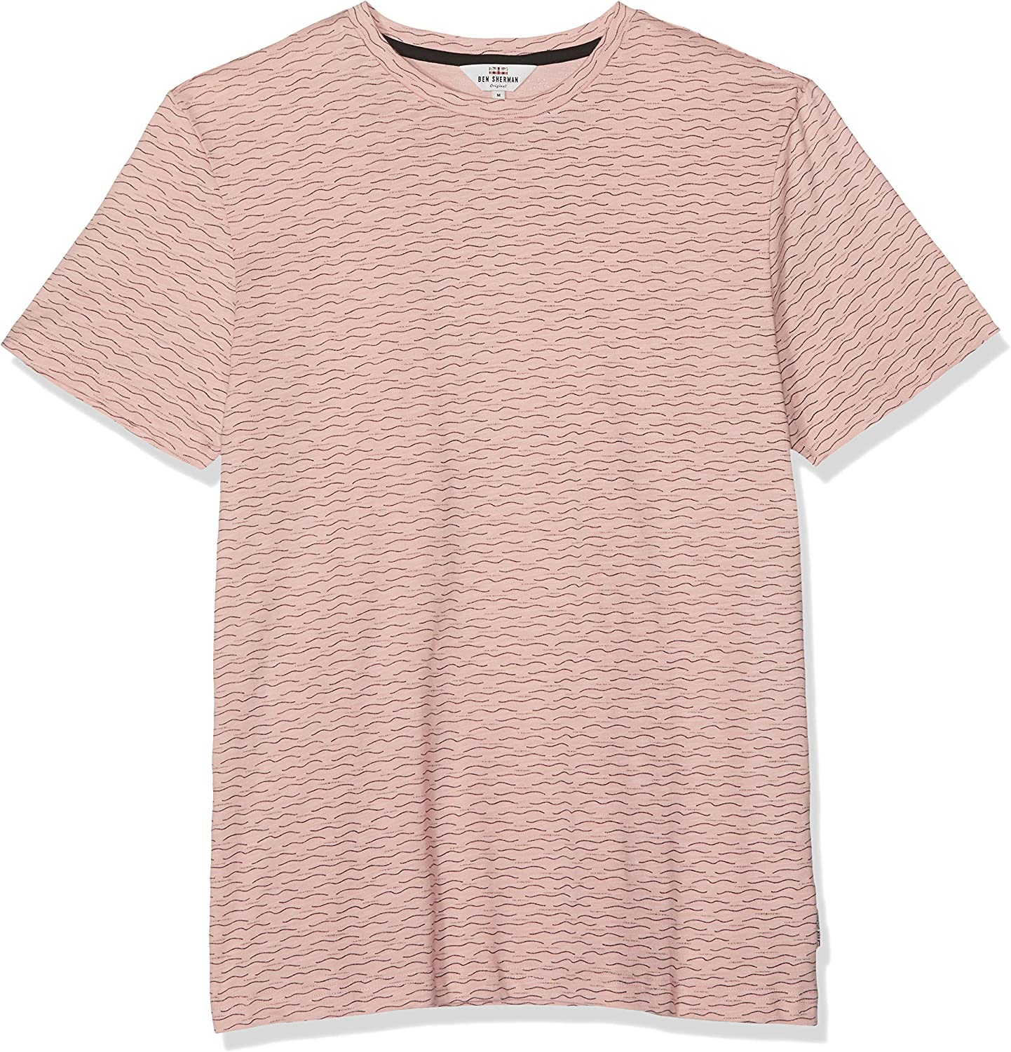 Ben Sherman Geo Wave Print tee Camiseta, Rosa (Light Pink), Medium para Hombre: Amazon.es: Ropa y accesorios