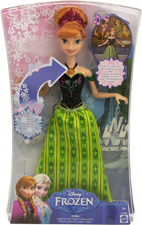 Die Eiskonigin Anna Puppe Cantarine Prinzessin 33 Cm Mattel Cjj09 Amazon De Spielzeug