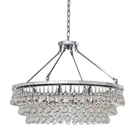 Celeste Glass Drop Crystal Chandelier Chrome Amazoncom - Chandelier drop crystals